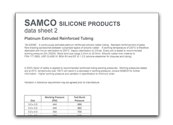 Samco Silicone Products - View Or Download Our Datasheets